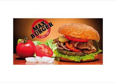 Reklama zewnętrzna Max burger