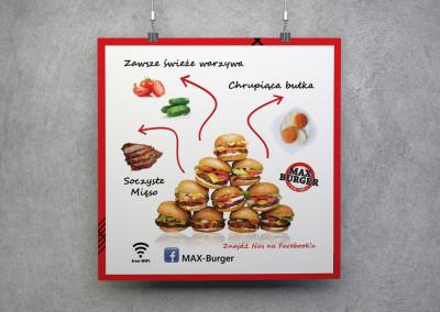 Plakat projekt Max burger