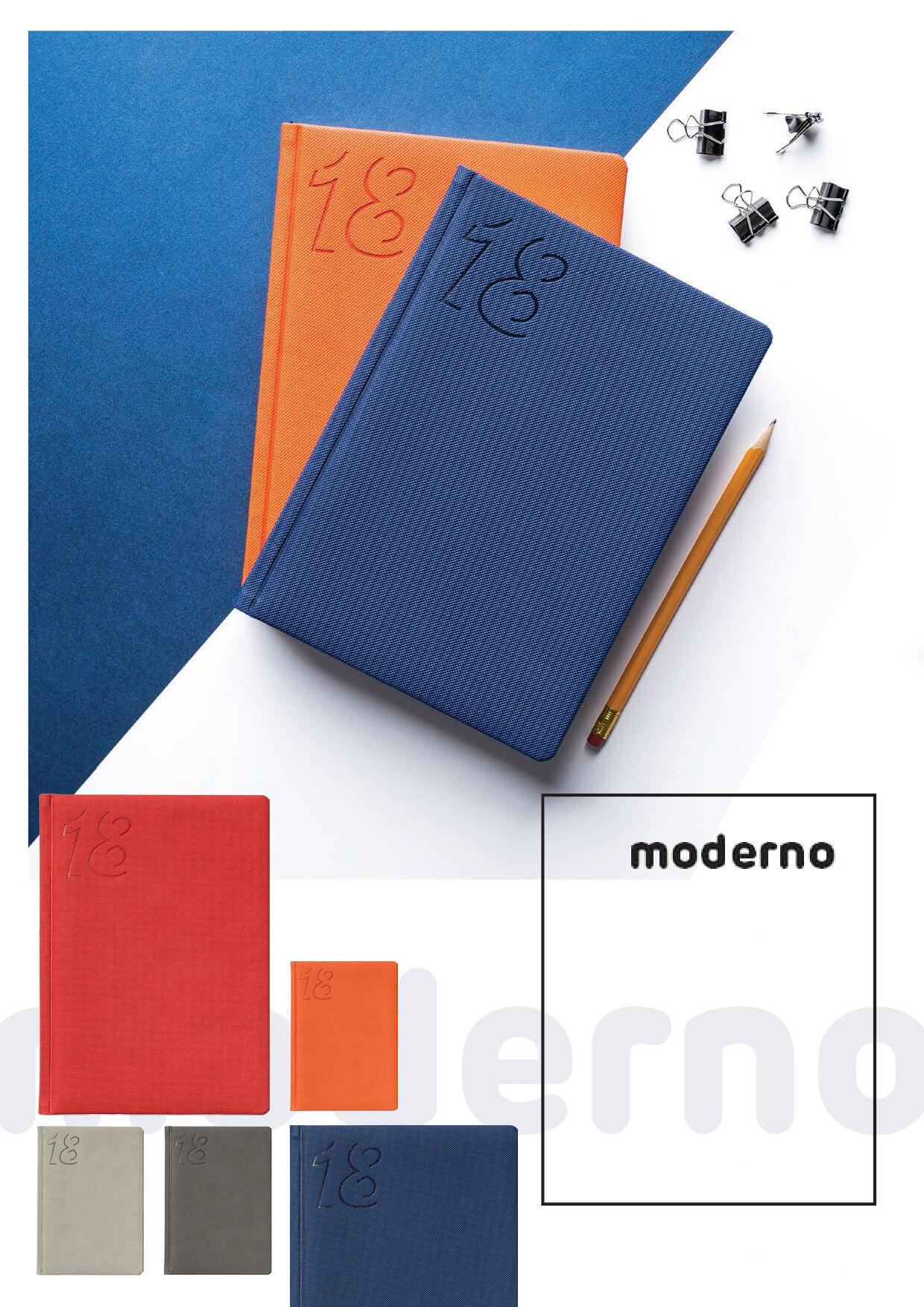 Kalendarze książkowe na 2018 rok / oprawa moderno