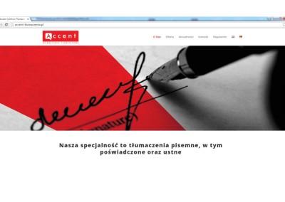 Strona www Accent